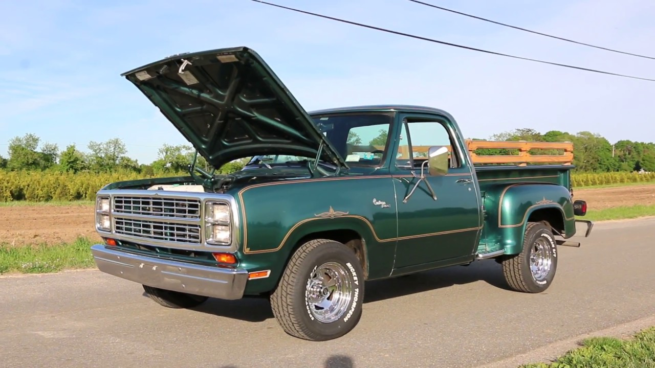 dodge warlock ii pickup truck  saleonly  milesoriginal paint survivor youtube