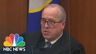 Chauvin Trial judge Criticizes Rep. Maxine Waters Comments On Trial| NBC News