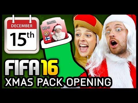 XMAS ADVENT CALENDAR PACK OPENING #15 - FIFA 16 ULTIMATE TEAM