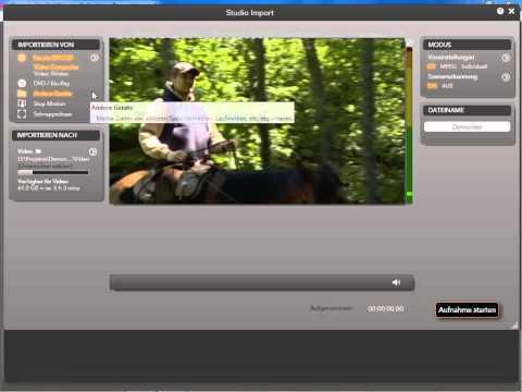 Analoge Videos importieren in Pinnacle Studio 14 und 15