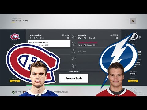 Trade Breakers: NHL 17 Trade Simulation. DROUIN TO MONTREAL!