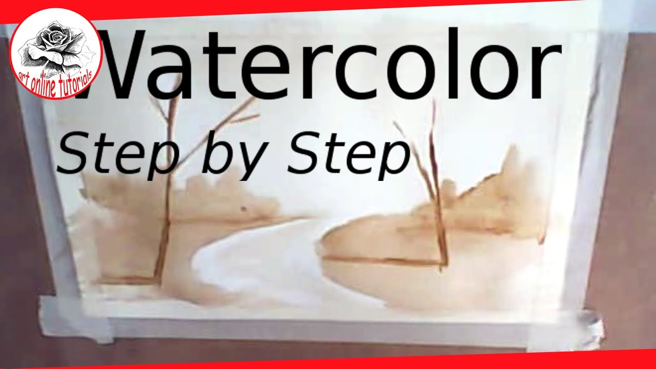 Watercolor tutorial how to paint a landscape step by for Step by step painting tutorial