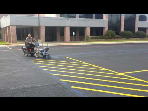 Professional parking lot stripping impressively quick for Parking lot painting equipment