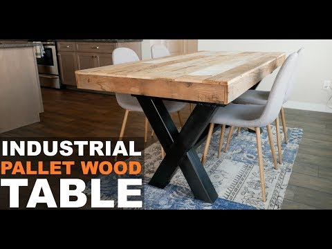 INDUSTRIAL PALLET WOOD TABLE || DIY