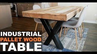 INDUSTRIAL PALLET WOOD TABLE