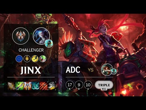 Jinx ADC vs Miss Fortune - EUNE Challenger Patch 10.6