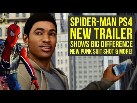 New Spider Man PS4  s BIG DIFFERENCE, New Punk Suit Shot & More! Spiderman PS4 Gameplay