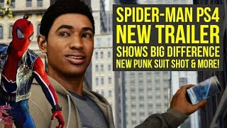 New Spider Man PS4 Trailer Shows BIG DIFFERENCE, New Punk Suit Shot & More! (Spiderman PS4 Gameplay)