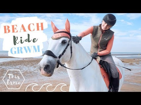 Beach Ride Get Ready With Me and my Horse – Groom, Tack up + Ride| This Esme