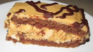 Торт SNICKERS. Простой рецепт
