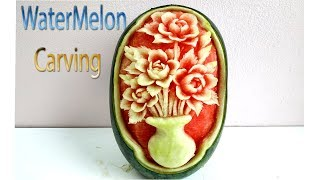 Watermelon Carving Advanced techniques   carving fruits   By BÀN TAY ĐEN #carving #watermelon