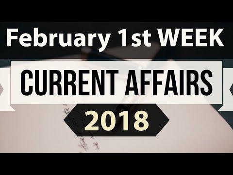 (English) February 2018 Current Affairs 1st week part 2 - UPSC/IAS/SSC/IBPS/CDS/RBI/SBI/NDA/CLAT/KVS