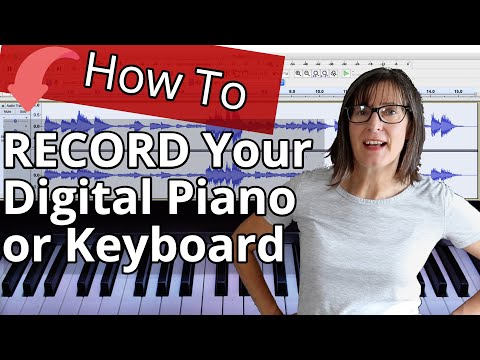 How To Record Digital Piano/Keyboard In Audacity, Garageband Or Reaper