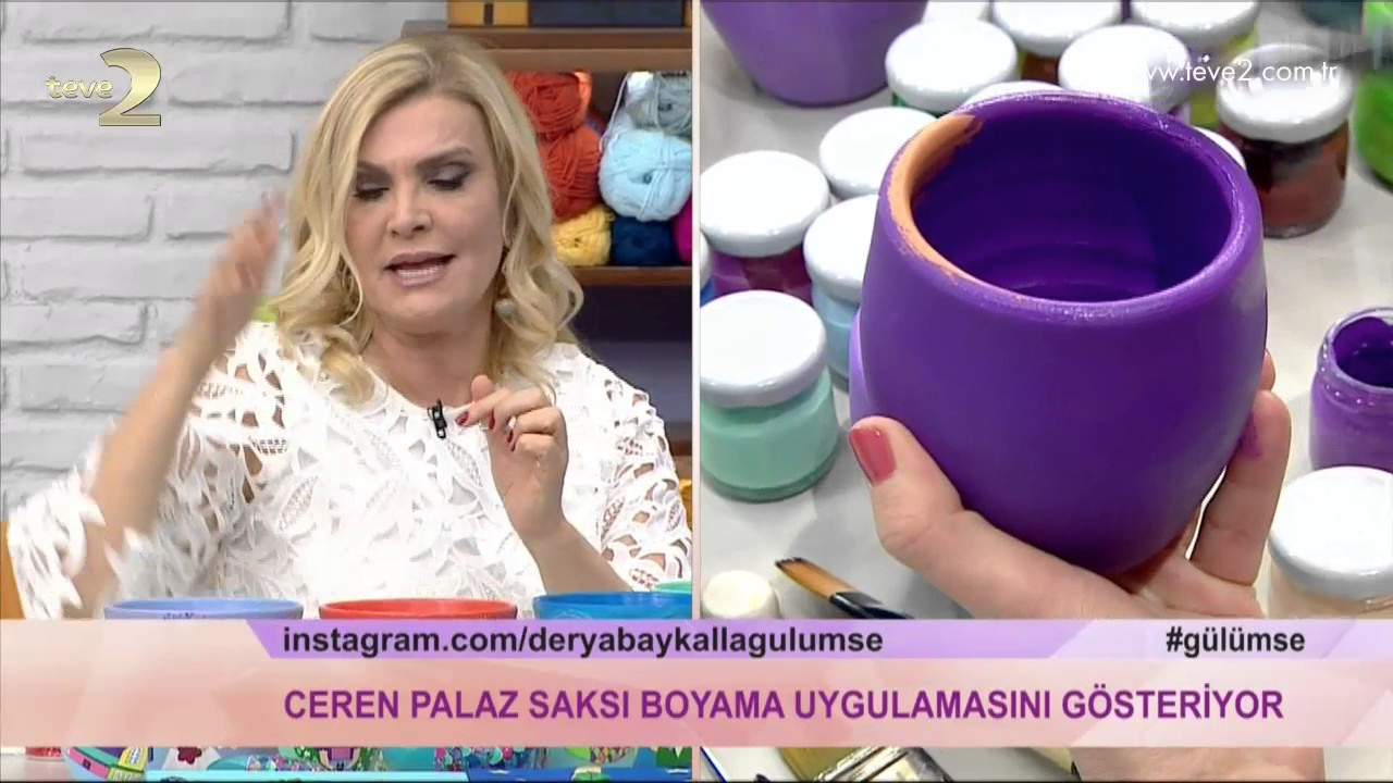 Derya Baykal La Gulumse Saksi Boyama Uygulamasi Youtube