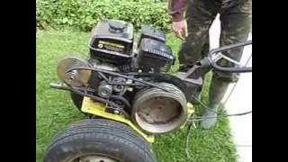 мотокультиватор чемпион ВС 7712. Ходоуменьшитель ременной