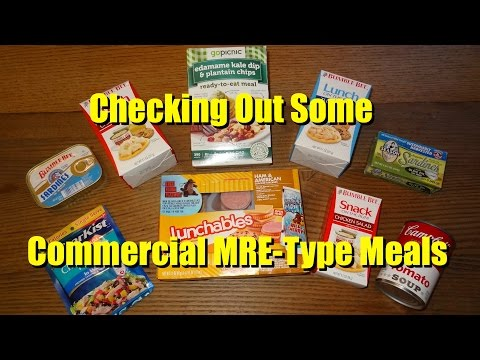 Checking Out Some MRE-Type Meals and Products