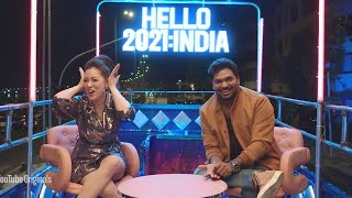 Zakir Khan and Munmun Dutta AKA Babita Ji | Hello 2021 India | Youtube NYE Celebration