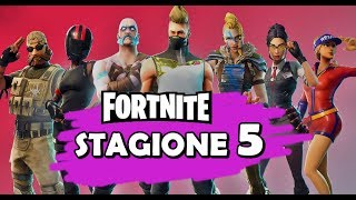 FORTNITE SEASON 5 - ALL THE BATTLE PASS - SKIN AND MORE... Ita