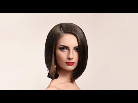 Стрижка каре без челки на прямых волосах