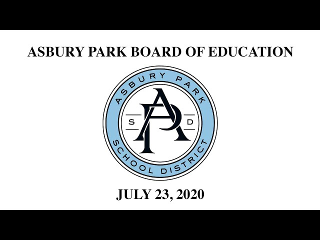 Asbury Park Board of Education Meeting - July 23, 2020