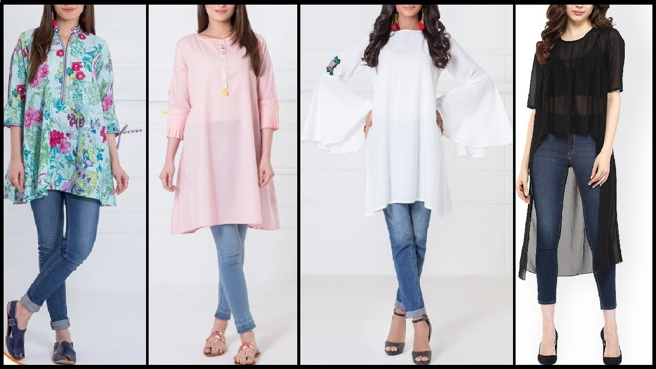 Top new style designer kurta kurti long shirts for New shirt style for girl