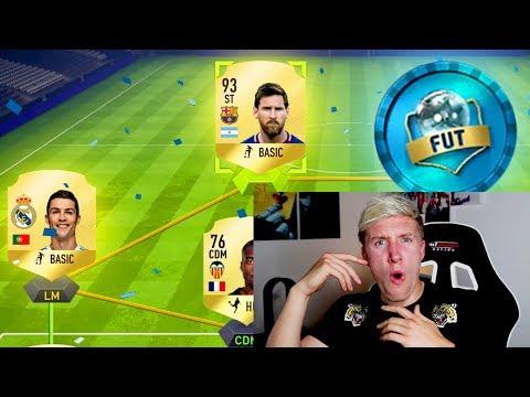 RONALDO & MESSI IN THE SAME DRAFT! - MY FIRST FIFA 18 FUT DRAFT