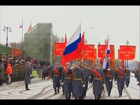 70th Anniversary Lifting of Leningrad Siege Russian Army Parade 2014