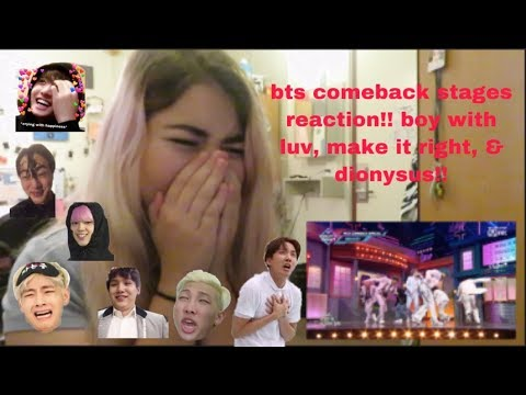 {REACTION} BTS COMEBACK STAGES: BOY WITH LUV, MAKE IT RIGHT, & DIONYSUS