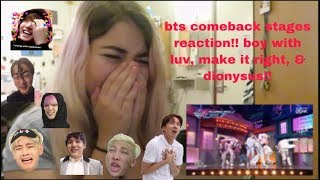 Baixar {REACTION} BTS COMEBACK STAGES: BOY WITH LUV, MAKE IT RIGHT, & DIONYSUS