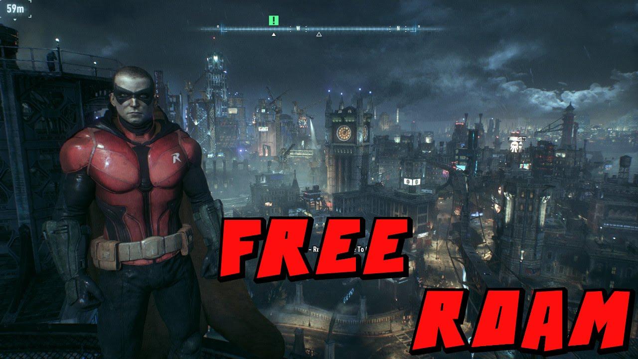 Batman Arkham Knight Robin Free Roam Mod - YouTube