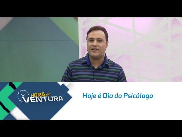 Hoje é Dia do Psicólogo: Bruno Ventura homenageia esses profissionais - Bloco 01