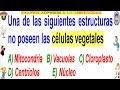 Examen Admisión a la Universidad CALLAO Biología Célula Vegetal Solucionario UNAC