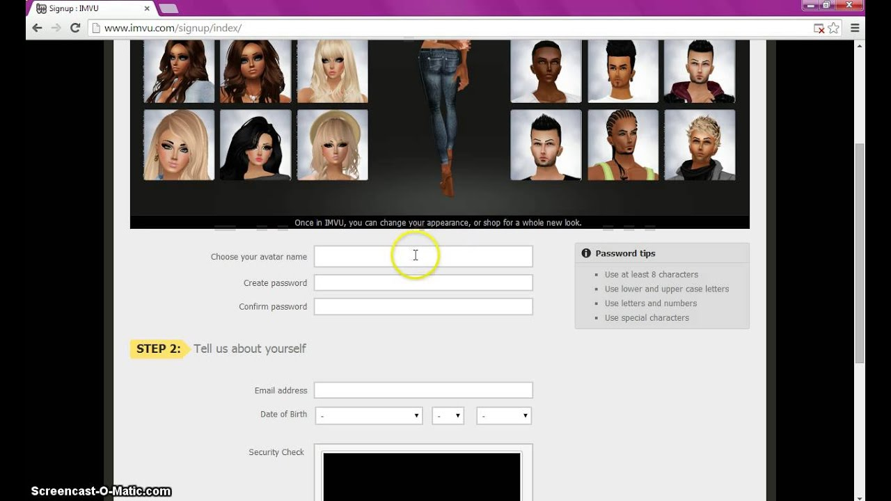 How To Sign Up For IMVU