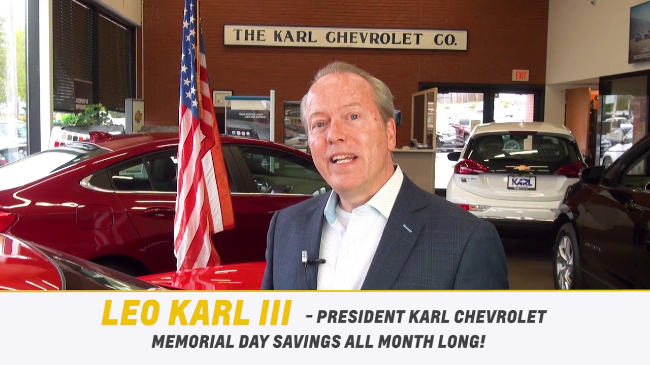 Karl Chevrolet Memorial Day Sales Event 2019 New Canaan Ct Chevrolet Dealership