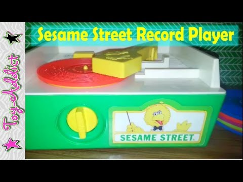 Fisher Price Sesame Street Record Player 1984 ~ Toy-Addict