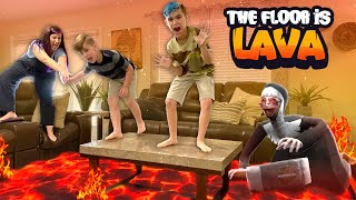 EVIL NUN is the LAVA MONSTER! The Floor Is Lava In Real Life (FUNhouse Family)