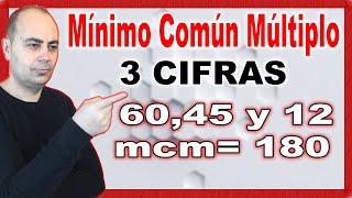Mínimo común múltiplo de tres cifras. Método efectivo.