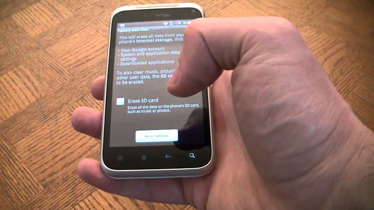 how to reset an htc droid incredible 2 smartphone to factory rh youtube com Droid Incredible 2 Accessories Droid Incredible 4G