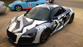 Audi R8 Wrap Reveal and Custom 360 Aero Kit on My Porsche