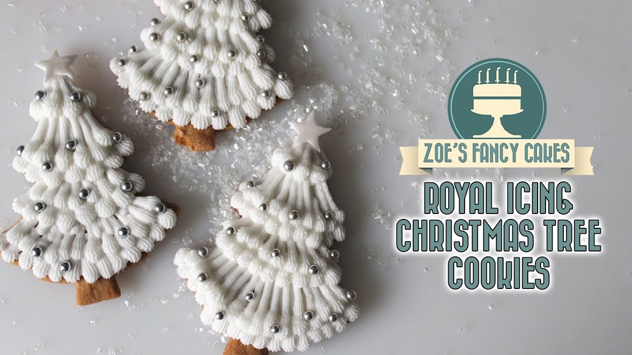 royal icing christmas tree cookies youtube