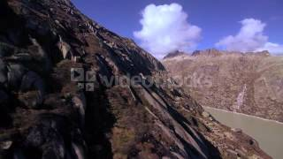mountain aerial view beautiful landscape alps rocks svic3jr