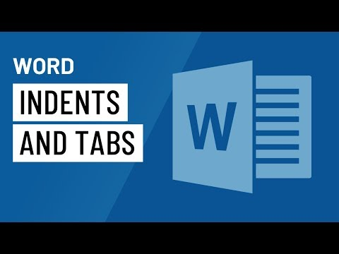 Word: Indents And Tabs