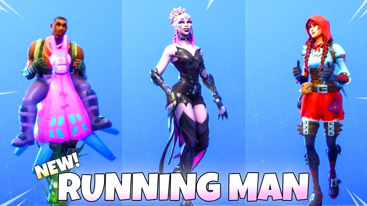 RUNNING MAN DANCE EMOTE WITH ALL NEW SKINS! Fortnite Battle Royale