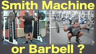 Smith machine or barbell - which one should you use?