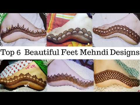 Beautiful Feet Mehndi Design | Top 6 Beautiful Feet Mehndi Design For Diwali thumbnail