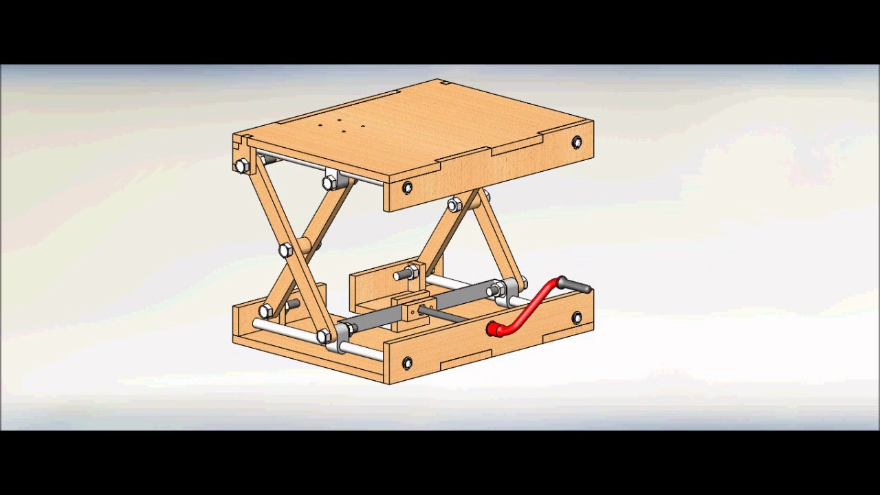 Wood Scissor Lifting Table Youtube