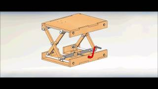 Wood Scissor Lifting Table