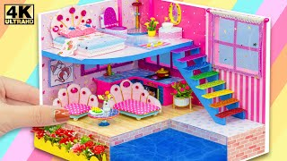 DIY Miniature Cardboard House #78 ❤️ Build Miniature Modern Apartment has Mega Pool for Turtle, Fish