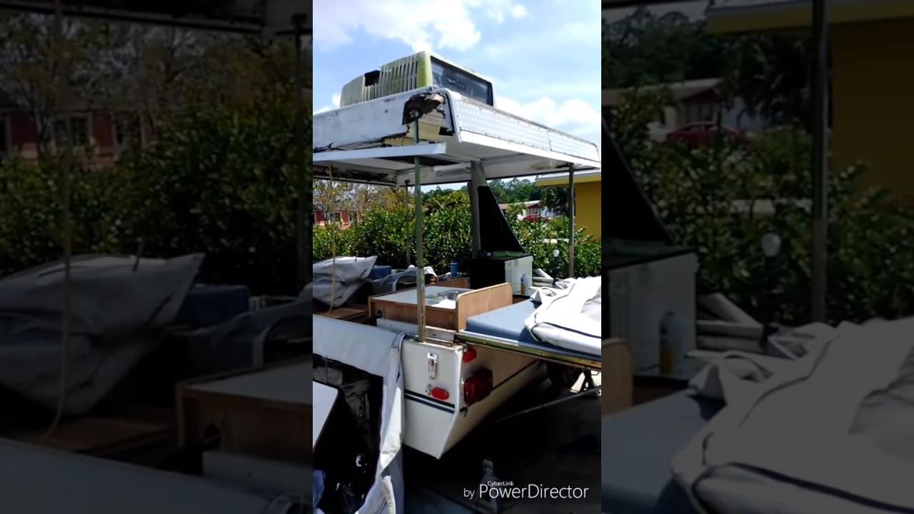 1995 Dutchman Duck, Pop Up Camper, Roof Repair.