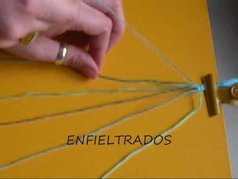 Como hacer pulsera de hilo diagonal string bracelet - Como hacer hormigon a mano ...